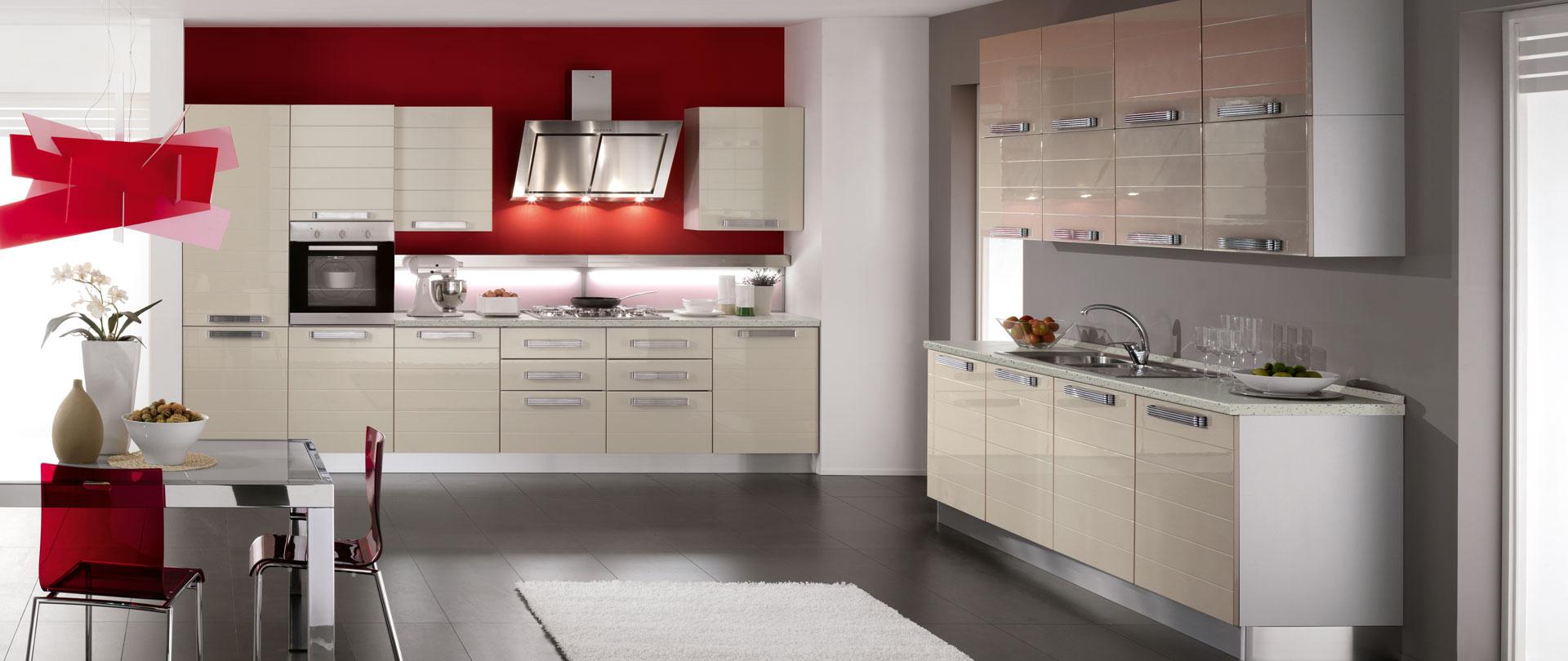Cucina Razionale Sofisticato Design Fluido E Funzionale
